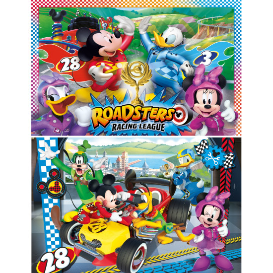 """Puzzle 2x20 Peças """"Disney: Mickey and the Roadster Racers"""""""