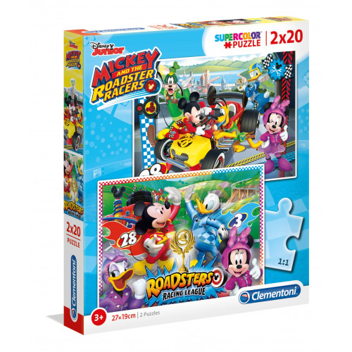 "Puzzle 2x20 Peças ""Disney: Mickey and the Roadster Racers"""