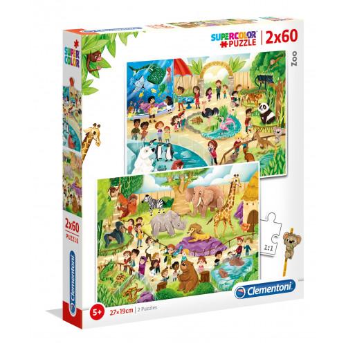 """Puzzle 2x60 Peças """"Zoo"""""""