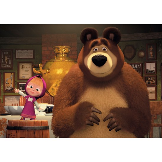 "Puzzle 104 Peças Maxi ""Masha and the Bear"""