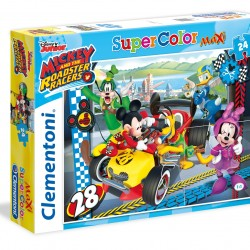 """Puzzle 24 Peças Maxi """"Disney Mickey and The Roadster Racers"""""""