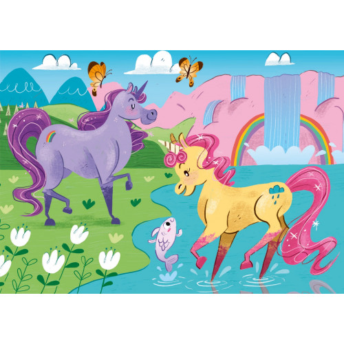 "Puzzle 2x20 Peças ""I Believe in Unicorns"""