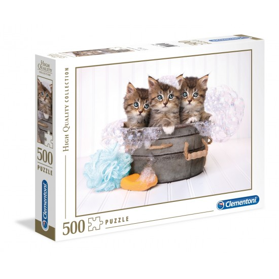 "Puzzle 500 Peças ""Kittens and soap"""