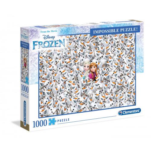 """Puzzle 1000 Peças """"Frozen"""" Impossible Puzzle"""
