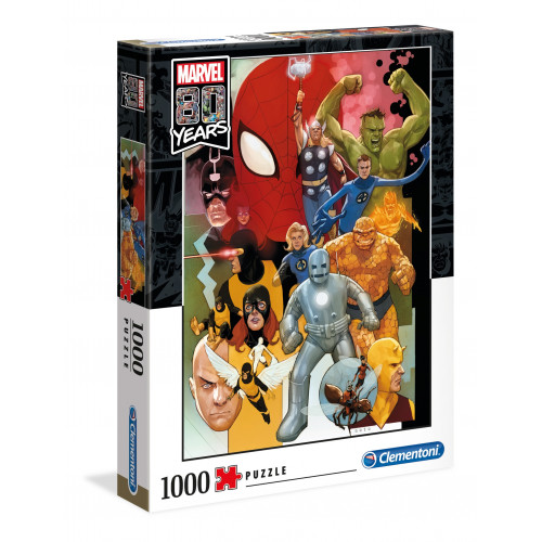 "Puzzle 1000 Peças ""Marvel: 80º Aniversário"""