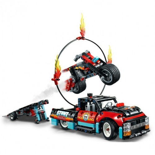 Lego Technic - Espectáculo acrobatico de Camião e Moto
