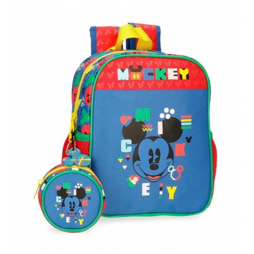 "Mochila Pré-Escolar ""Shape"", Mickey"