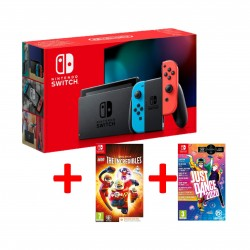 Nintendo Switch + Lego The Incredibles + Just Dance 2020
